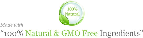 100% Natural and GMO Free ingredients